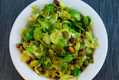Brussel Sprouts with Pistachios and Lemon