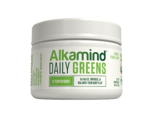 Get Off Your Acid with Alkamind Daily Greens are made from 27 nutrient-dense, alkaline superfoods, Alkamind Daily Greens are rich in chlorophyll, vitamins, minerals, and anti-oxidants. We've included alkaline powerhouses like wheatgrass juice, turmeric, beetroot, spinach, kale, chia, lemon, 8 different sprouts (& much more) in a light, refreshing peach taste to alkalize, detoxify, and energize your body! 5 servings of RAW ORGANIC GREENS per scoop! Take first thing upon waking to jump-start your day, before a workout, or anytime you are experiencing a crash during your day. Alkalmind Daily Greens are excellent to: Increase Energy Weight Loss Better Digestion Fight Fatigue #Alkamind #GetOffYourAcid Dr. Daryl Gioffre