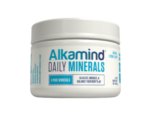 Made with the four most crucial, fast-absorbing alkaline minerals, Alkamind Daily Minerals is the most effective way to neutralize the acids and toxins in your body. Our unique blend of calcium, magnesium, potassium, and sodium bicarbonate are essential in gently detoxifying your body, plus a high-mineral organic lemon juice powder that tastes great and fights acid! Take at night for better sleep, after a workout for faster recovery, or to battle cravings, aches and pains, and stress. Decrease Reflux & Neutralize Acid Reduce Joint & Muscle Pain Better Sleep Fast Workout Recovery Eliminate Cravings #Alkamind #GetOffYourAcid Dr. Daryl Gioffre