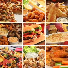 Collage of pub food