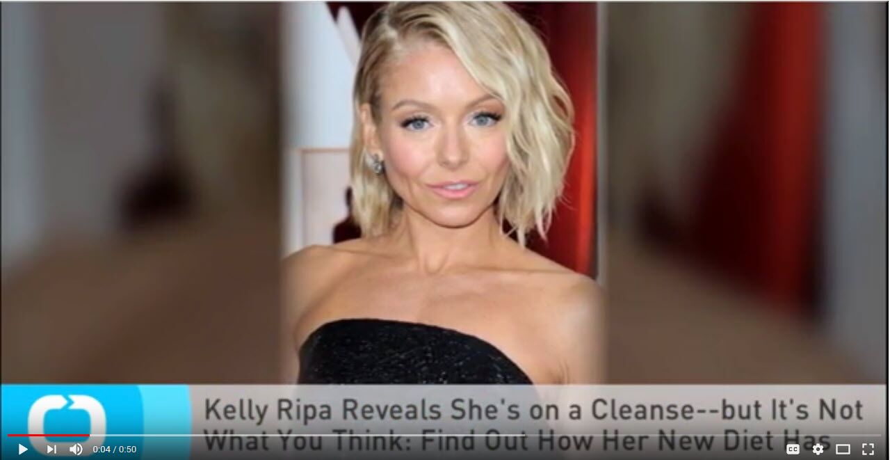 Daily Motion - Kelly Rippa Does the Alkaline Cleanse