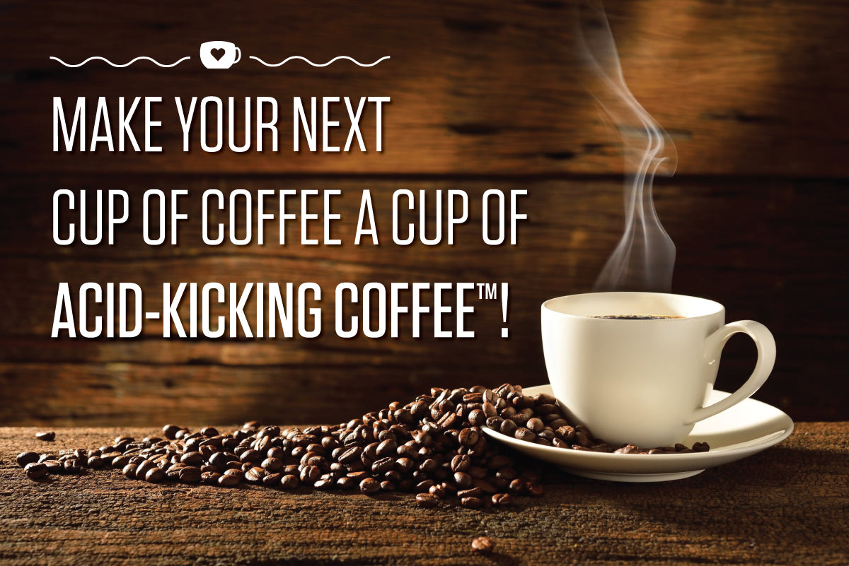 acid kicking coffee banner