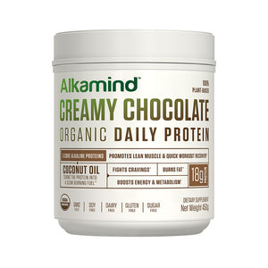 Alkamind Organic (Plant-Based) Proteins: 3 core alkaline proteins + coconut oil to create a superior organic protein powder. Most protein powders use acidic ingredients like whey, sugar, artificial sweeteners, and fillers which are BAD!  Alkamind Daily Protein is doctor-formulated and uses nothing but the most premium plant-based organic alkaline ingredients to help you…GET OFF YOUR ACID! Use as a total meal replacement, a healthy snack, or after your workout to build lean muscle mass and recover quicker.