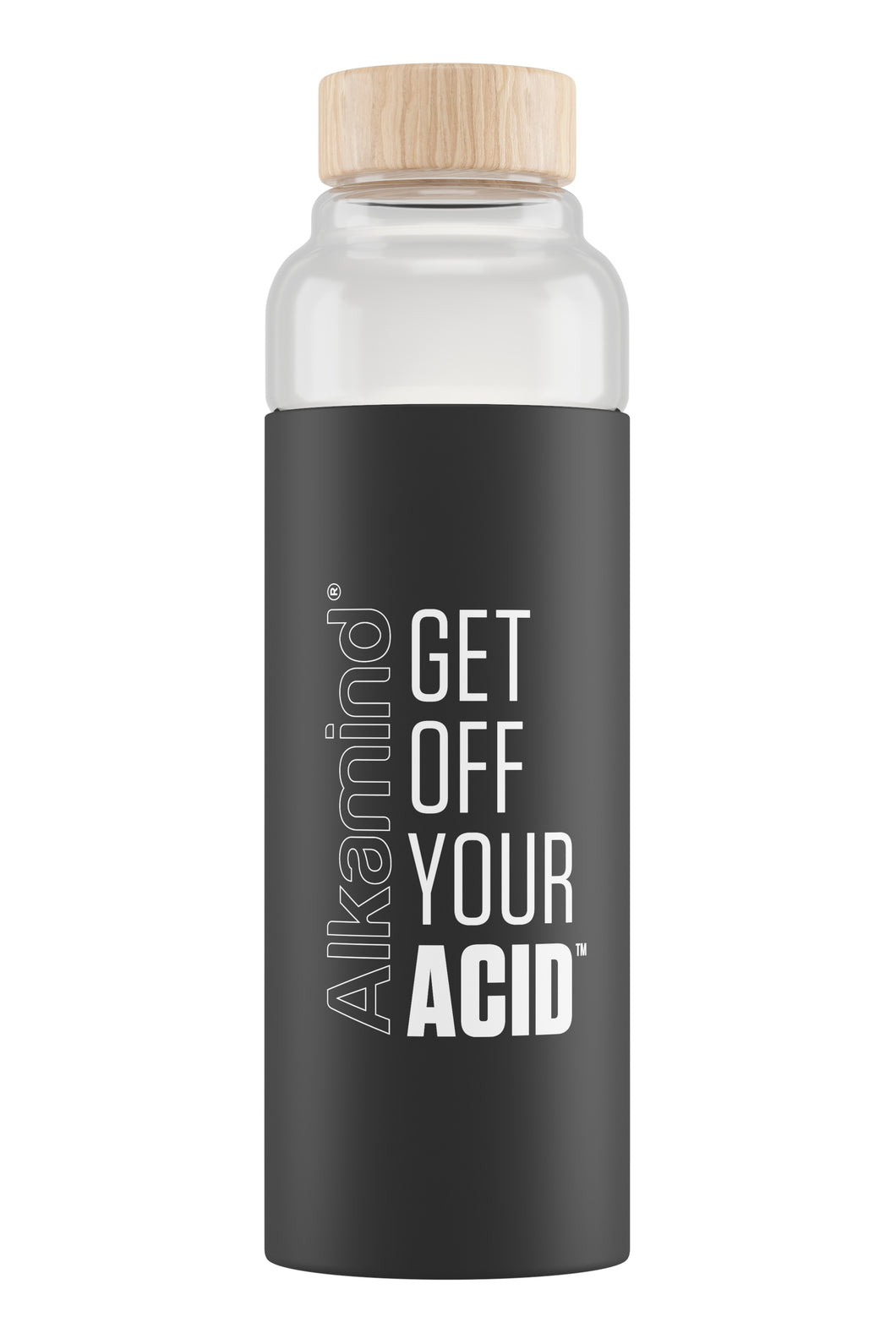 Get Off Your Acid Bamboo Glass Water Bottle