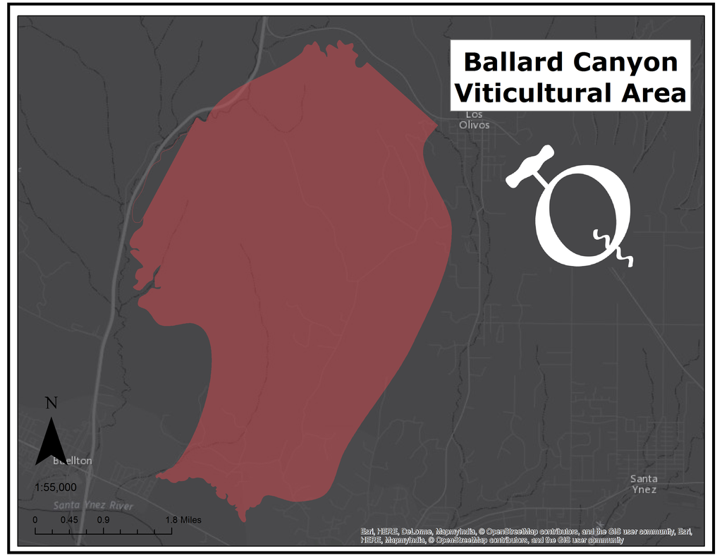 Ballard Canyon AVA map