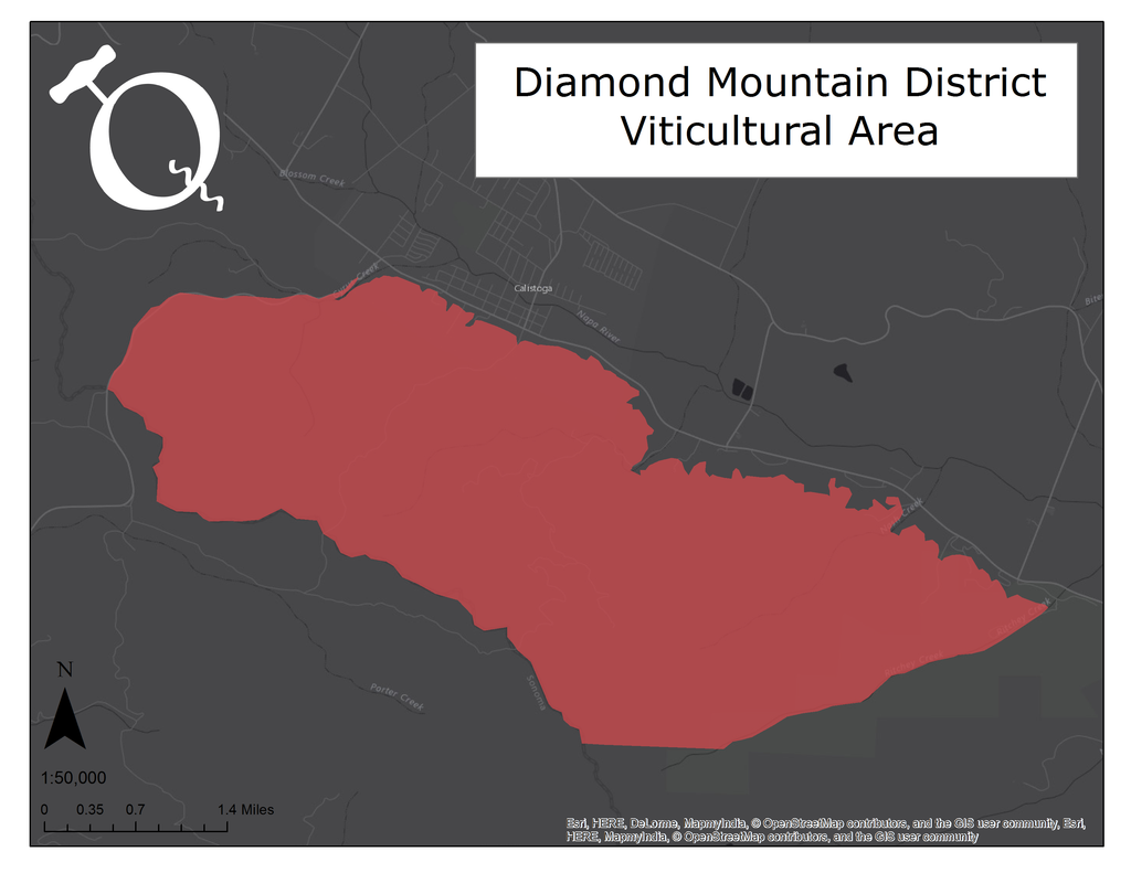 Map of the Diamond Mountain District AVA