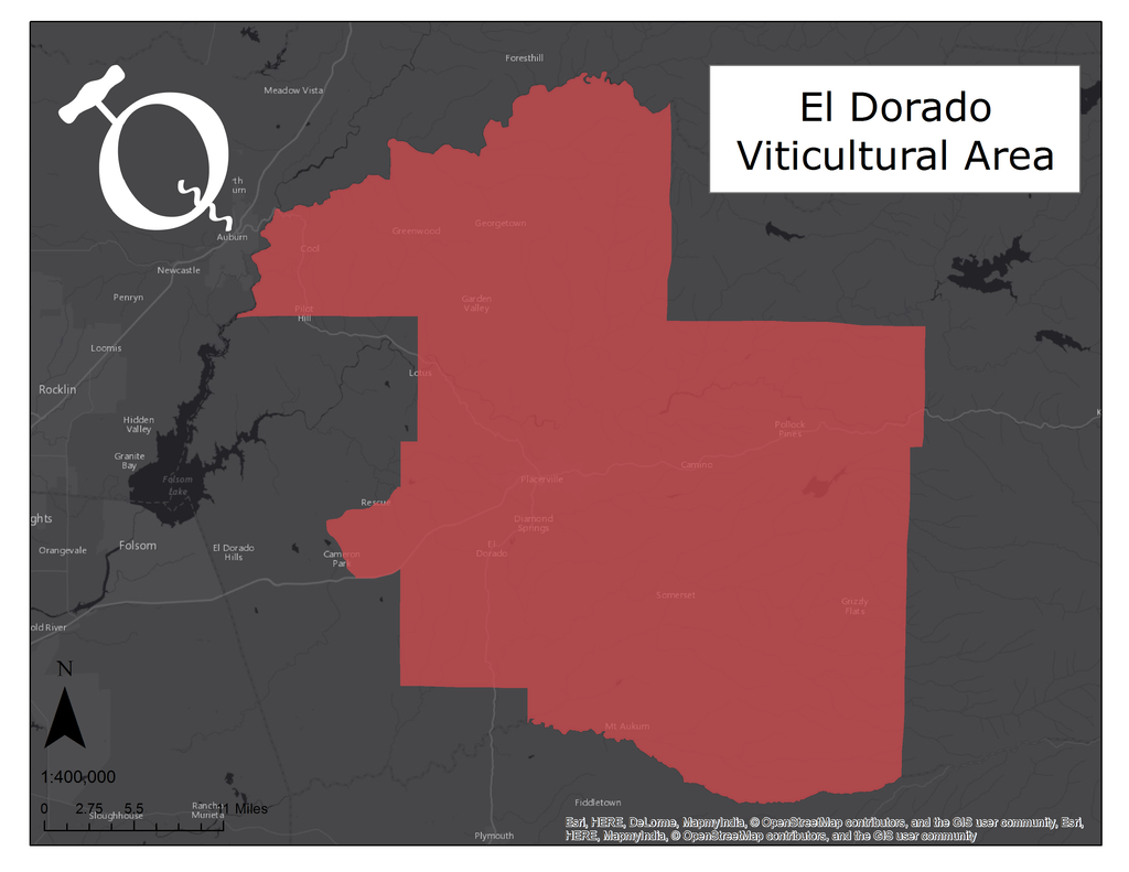 Image of El Dorado AVA map