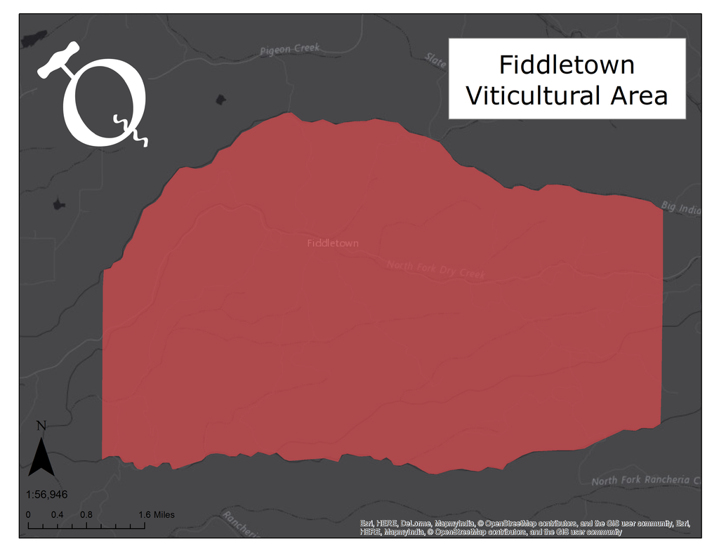 Image of the Fiddletown AVA map