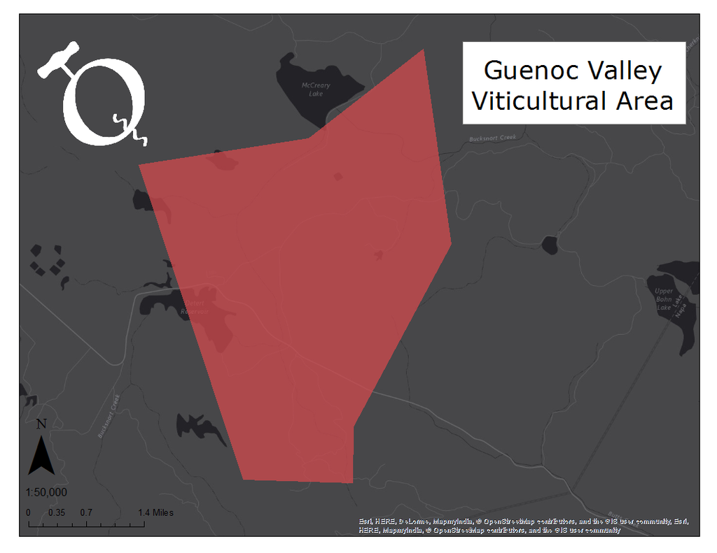 Image of the Guenoc Valley AVA map