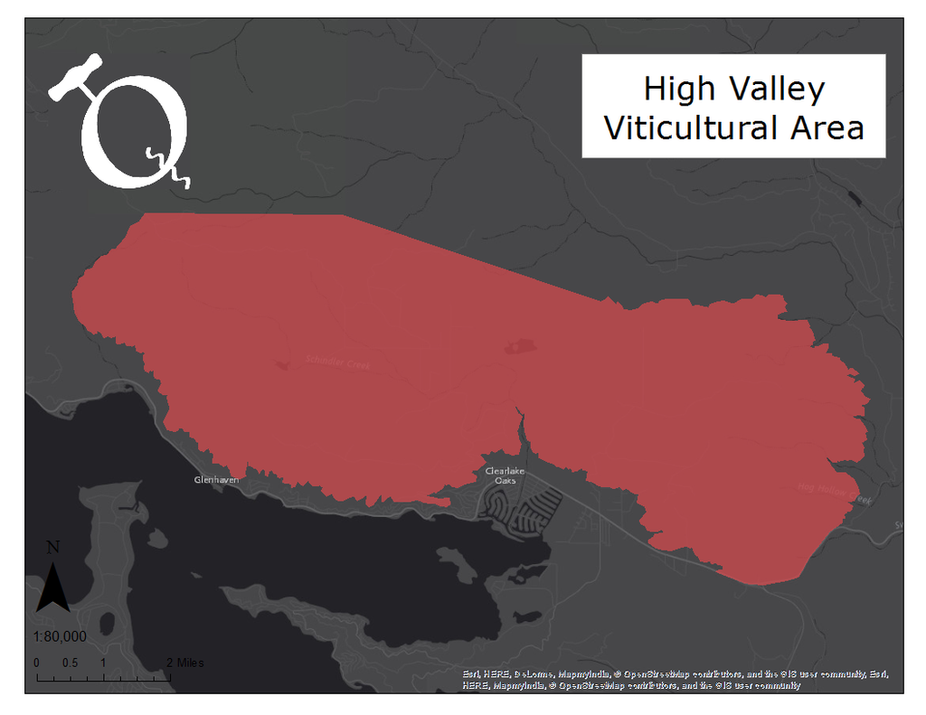 Image of High Valley AVA map