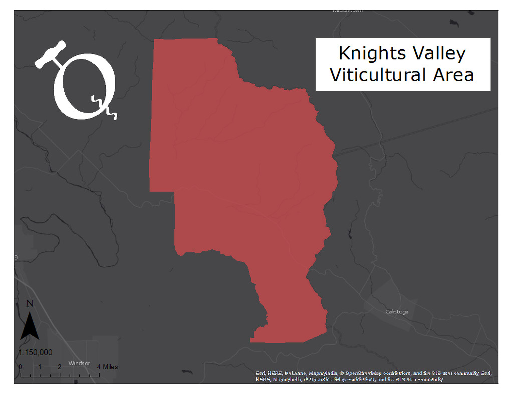 Image of the Knights Valley AVA map