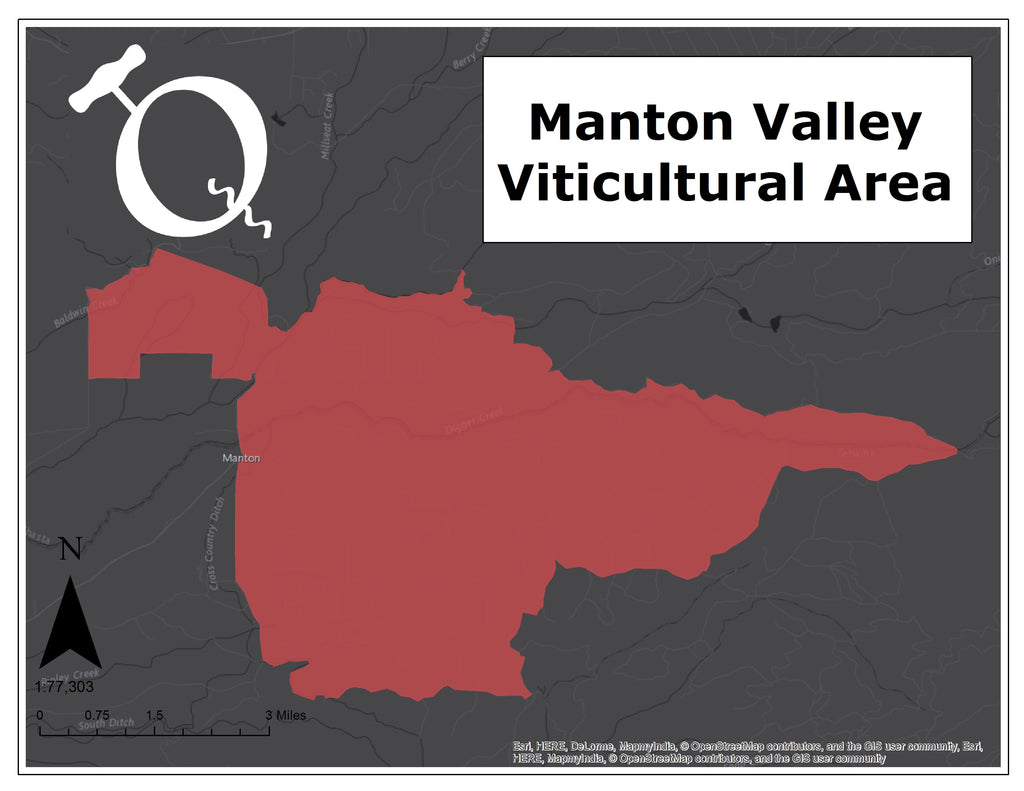 Manton Valley AVA map