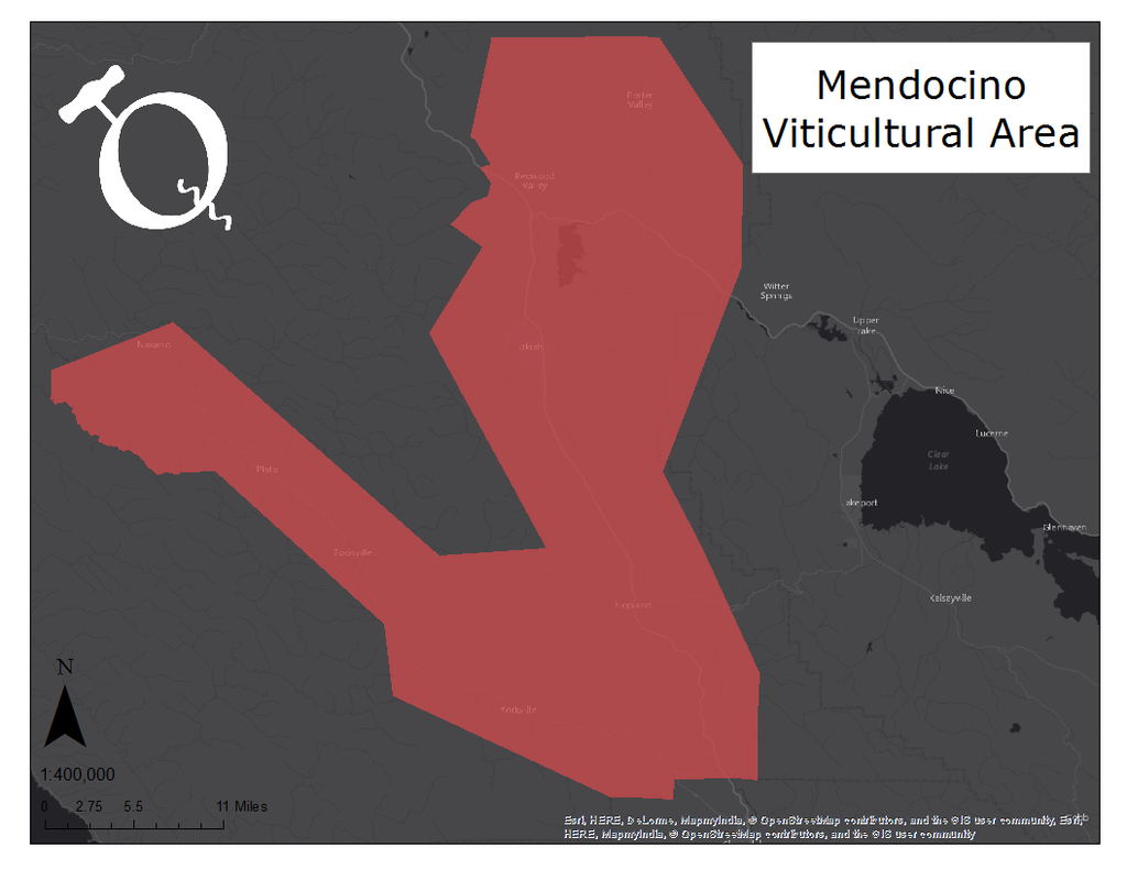 Image of Mendocino AVA map