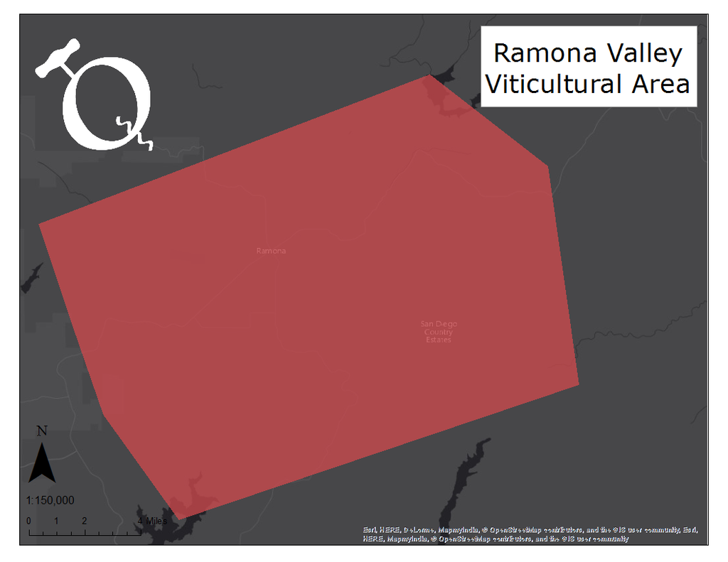 image of the Ramona Valley AVA map