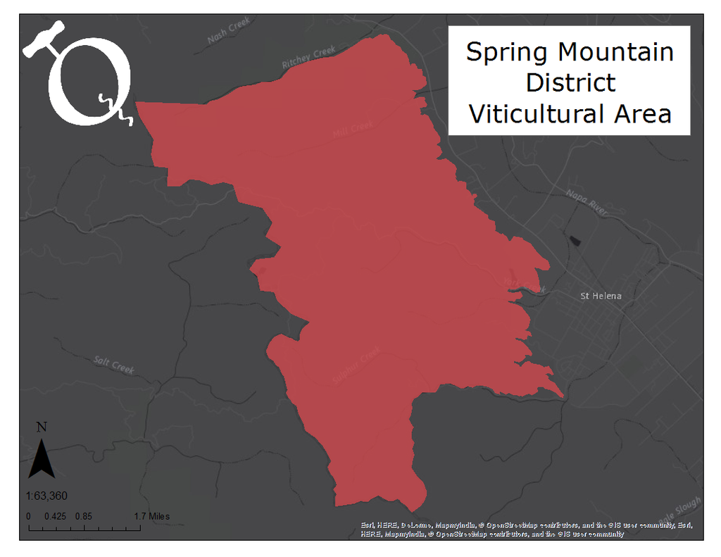 Map of the Spring Mountain District AVA
