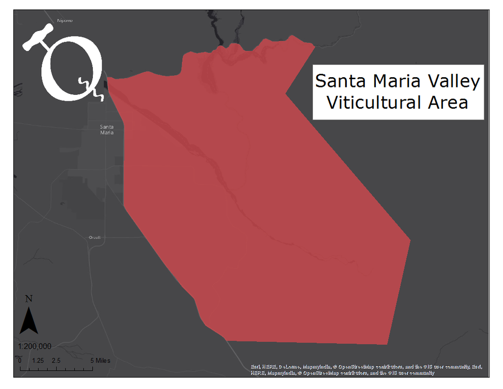 Map of the Santa Maria Valley AVA