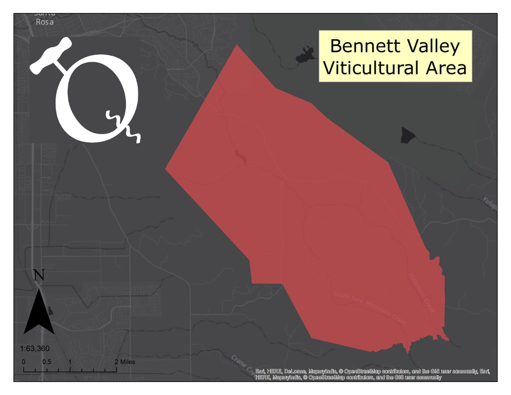 Map of the Bennett Valley AVA