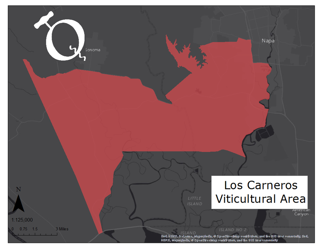 Image of the Los Carneros AVA map