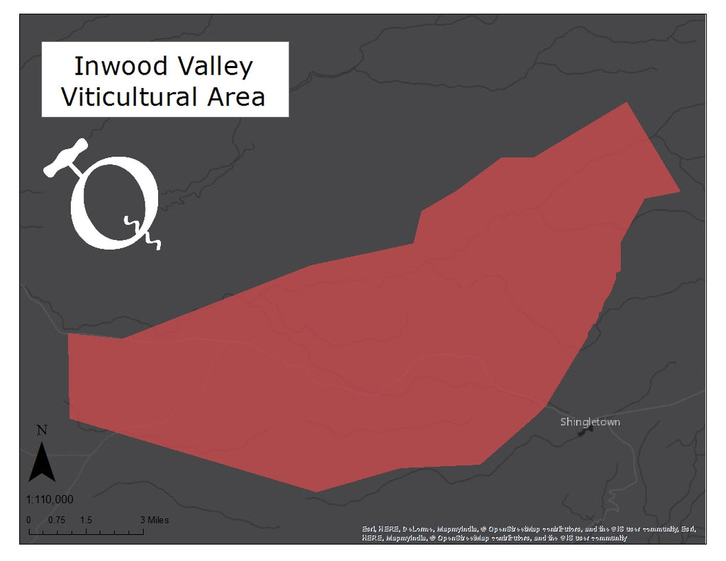 Map of the Inwood Valley viticultural area