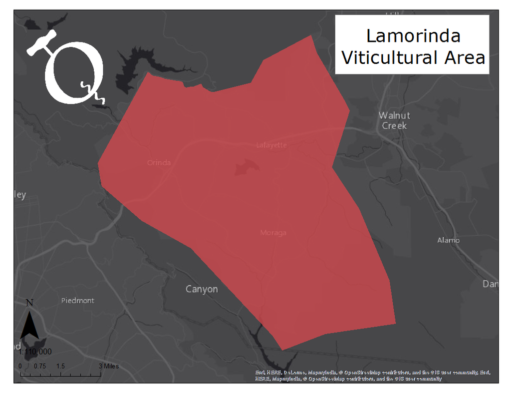Map of the Lamorinda viticultural area
