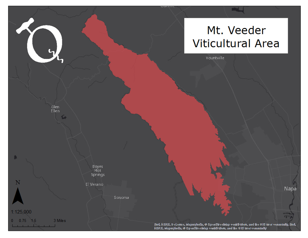image of the Mt. Veeder AVA map