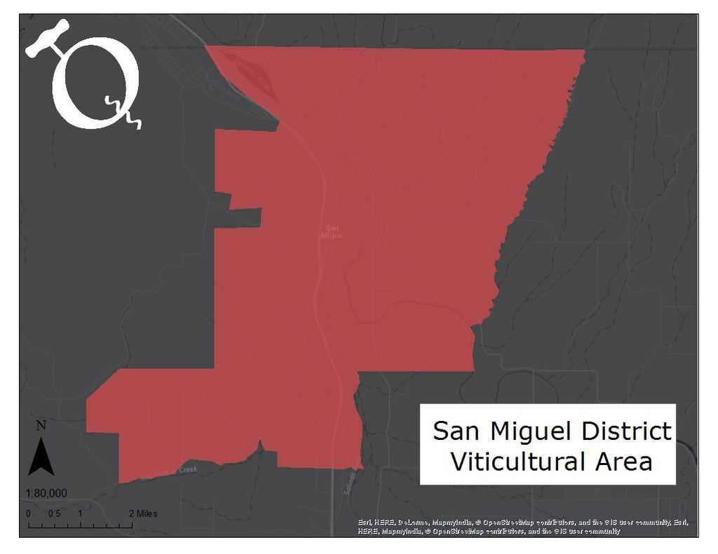 Map of the San Miguel District of Paso Robles