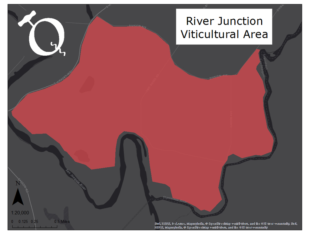 Map of the River Junction viticultural area