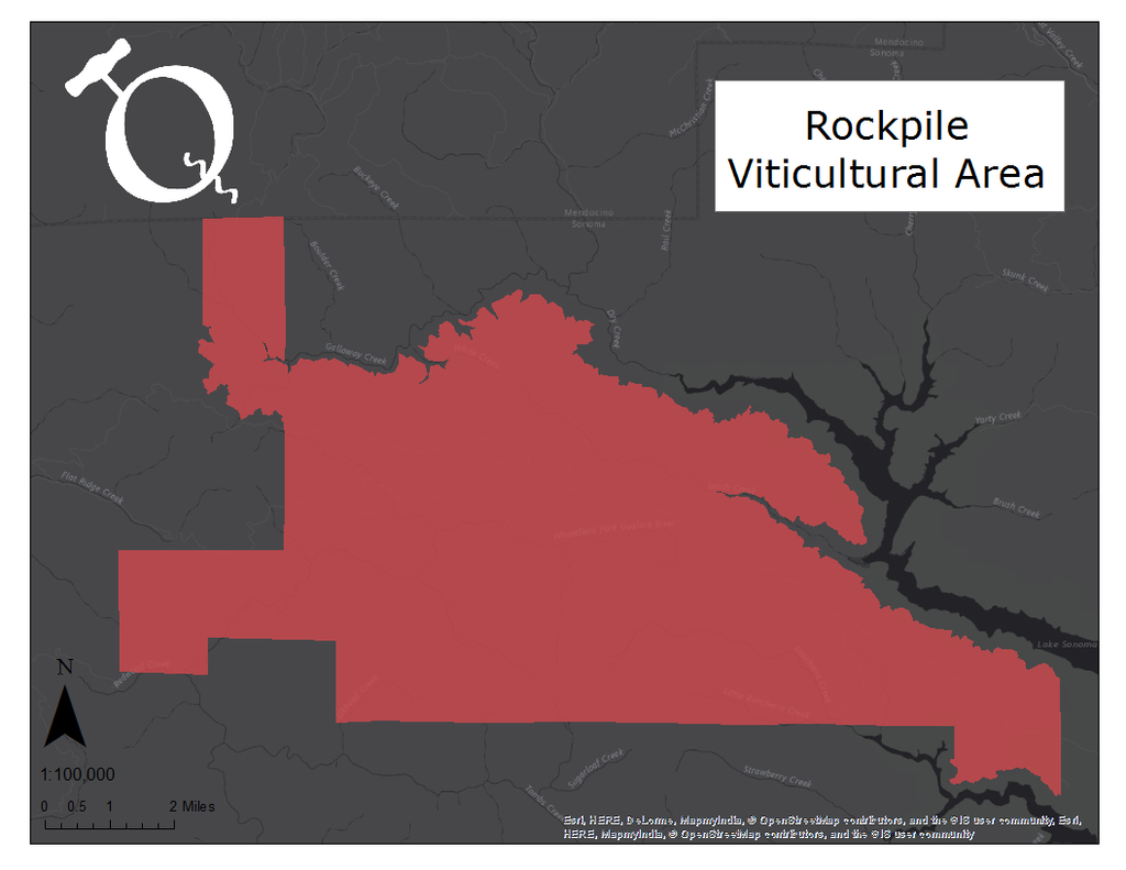 Map of the Rockpile AVA