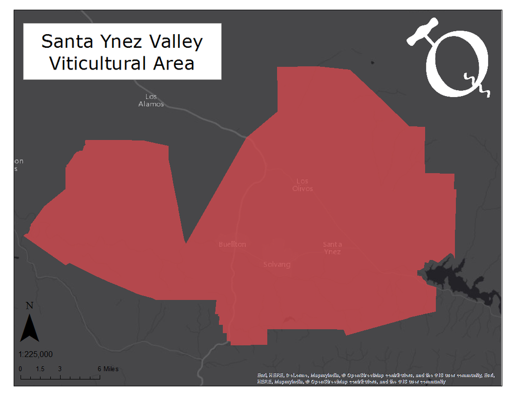 Map of the Santa Ynez Valley AVA