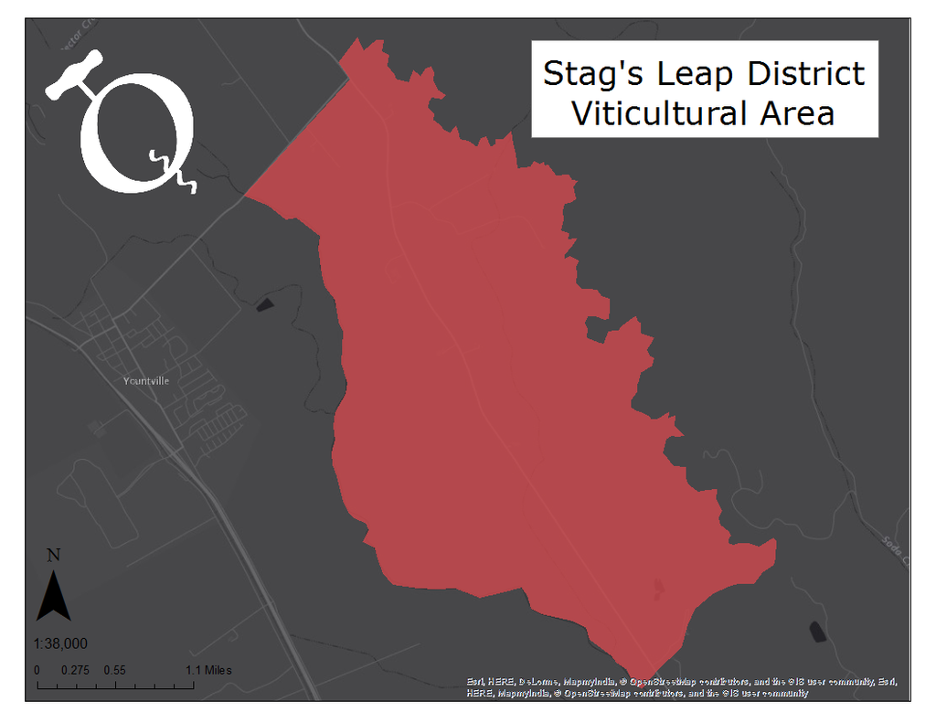 Map of the Stags Leap District