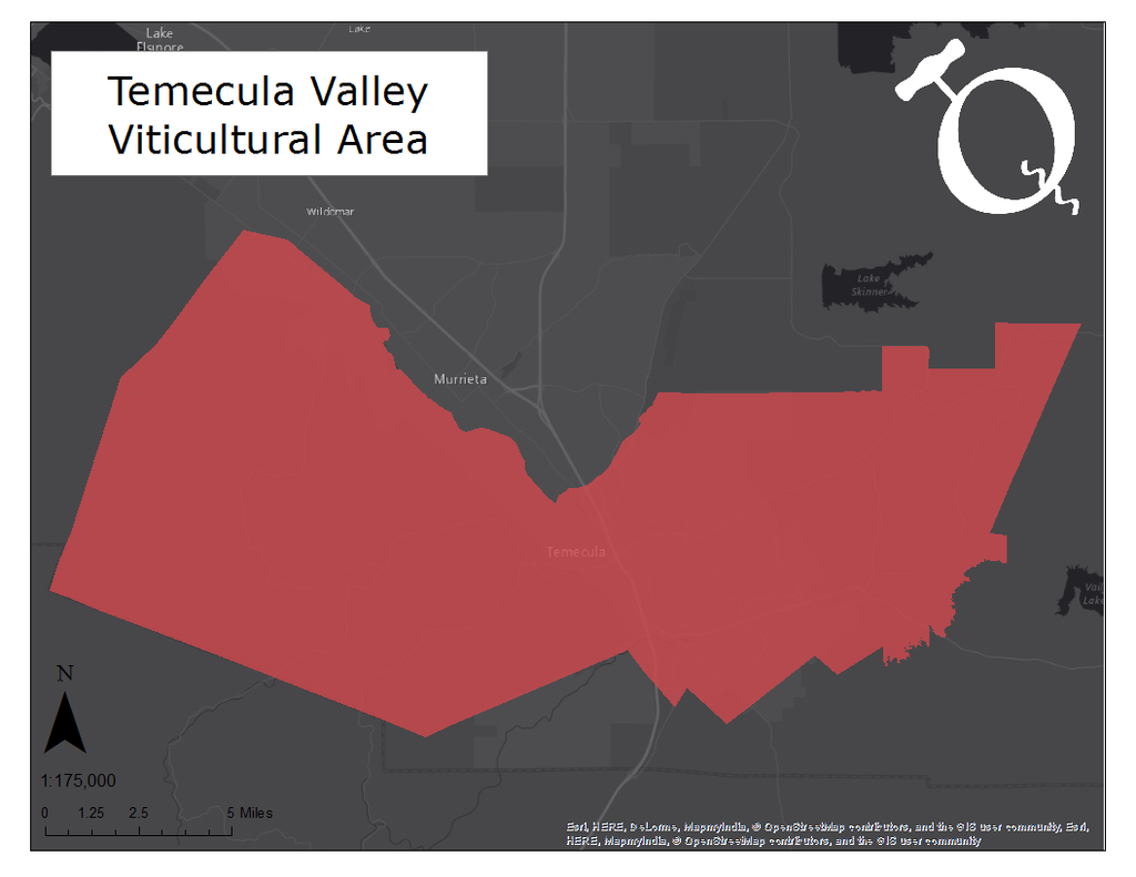 Map of the Temecula Valley AVA