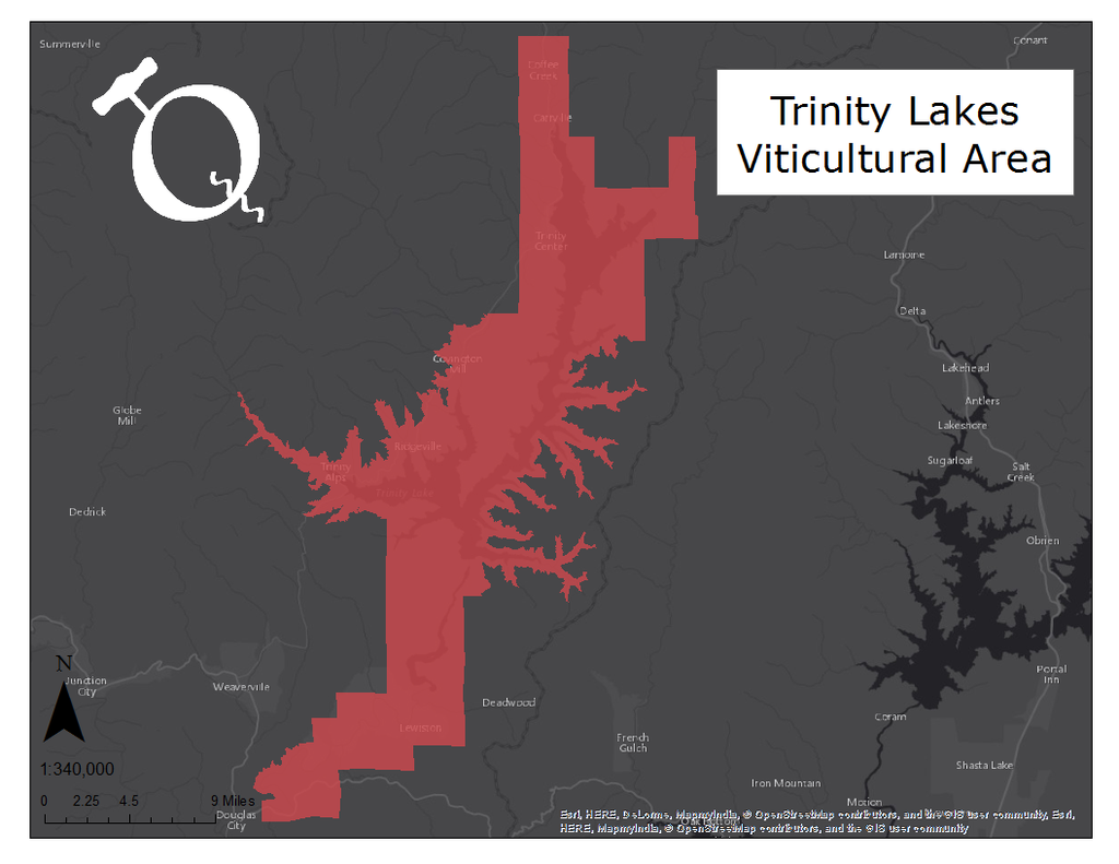 Trinity Lakes AVA map by Qorkz