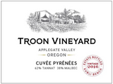 2016 Troon Vineyard Estate Cuvée Pyrénées Tannat/Malbec Co-ferment, Kubli Bench, Applegate Valley