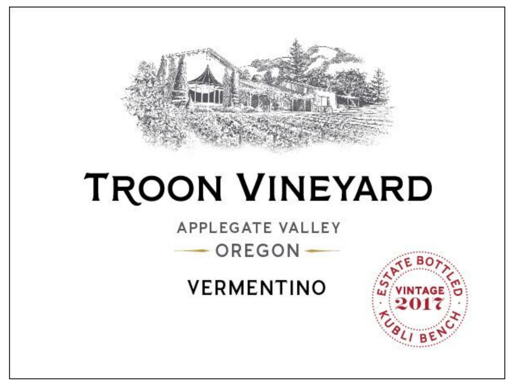 2017 Troon Vineyard Vermentino, Applegate Valley, Estate - Qorkz
