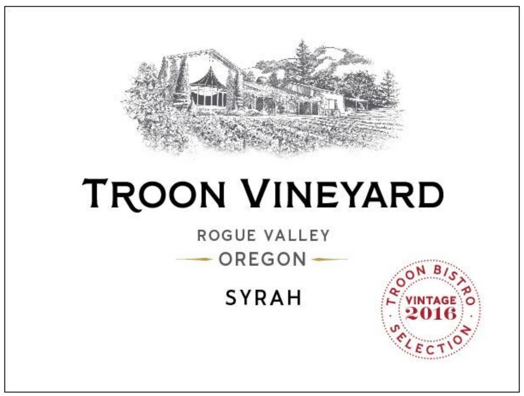 2016 Troon Vineyard, Bistro Syrah, Rogue Valley - Qorkz