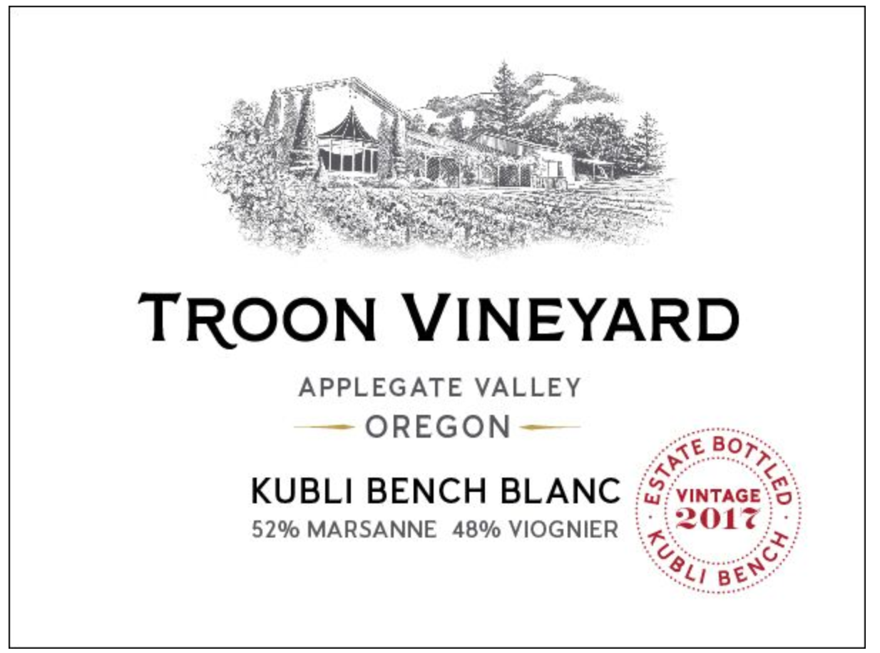 2017 Troon Vineyard, Kubli Bench Blanc - Qorkz