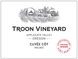 2016 Troon Vineyard Cuvée Côt Malbec, Applegate Valley, Estate Bottled