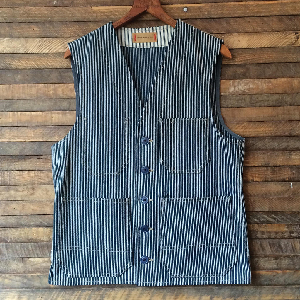 Hercules Railroad Stripe Denim Vest