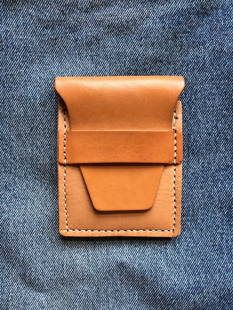 Stitched Wallet in Natural Vegetable Tanned Leather