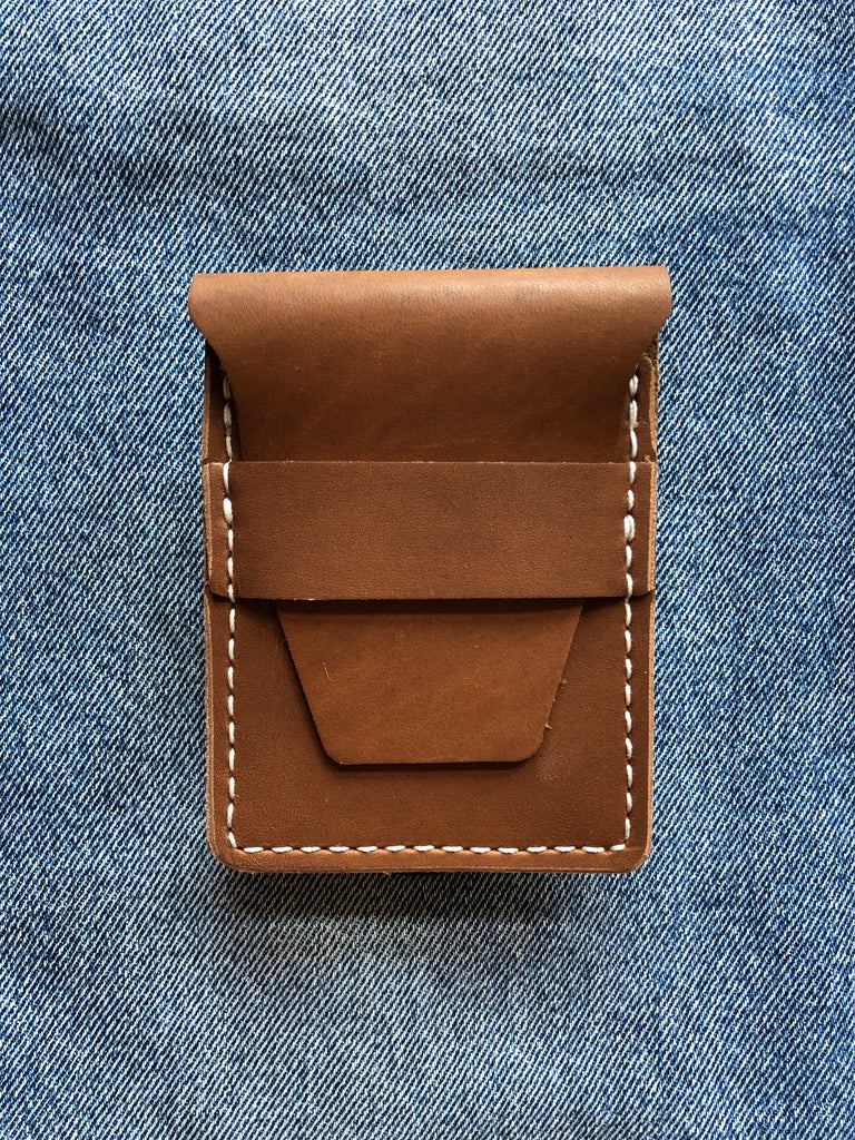 Stitched Wallet in Chocolate Brown Leather