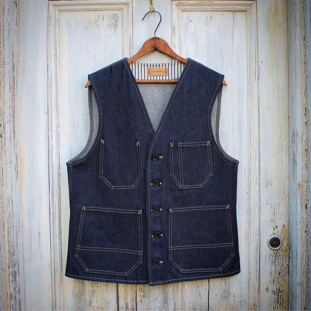 Hercules Raw Denim Vest