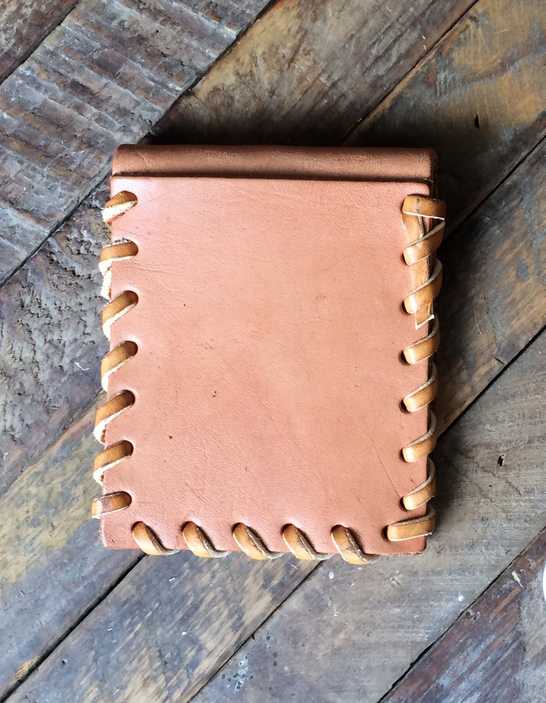 Laced Wallet in Natural Vegetable Tanned Leather