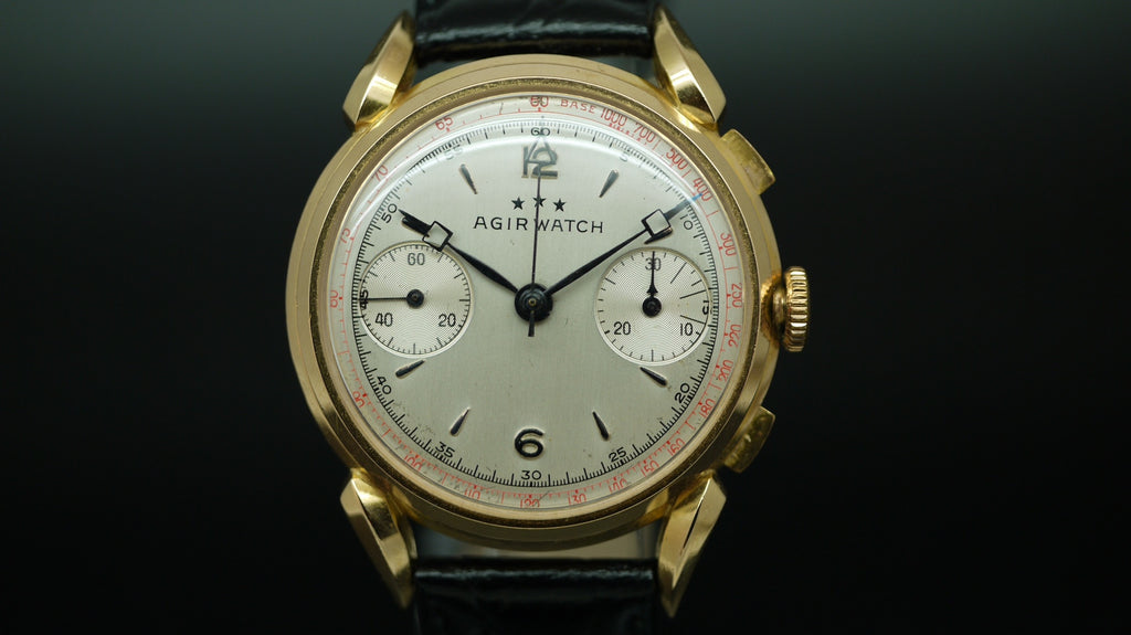 Agirwatch 18ct Gold Chronograph. Circa 1948.