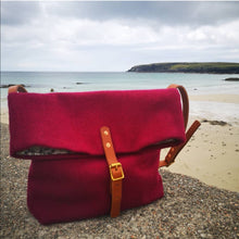 SÌNE: Harris Tweed foldover crossbody bag