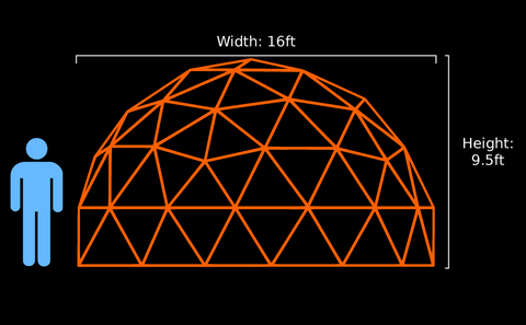 16-ft v3 5/9 Dome (Climbable) (Light)