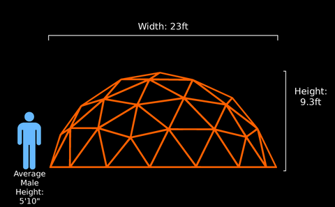 23-ft v3 Lounge Dome(Thick Pipe)
