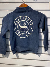 Load image into Gallery viewer, Kids 1/4 Zip Kids Navy Sweatshirt