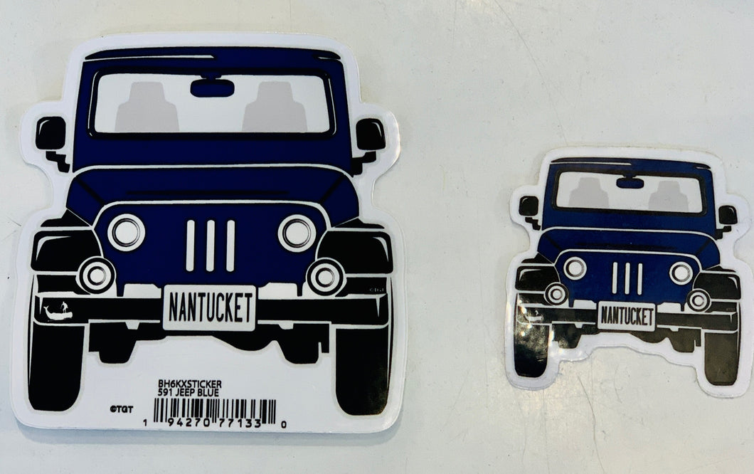 Nantucket Jeep Sticker Navy