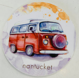Nantucket bus Sticker