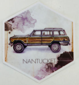 Nantucket Jeep Wagoneer Sticker